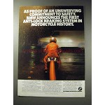 1988 BMW K100RS Motorcycle Ad - Commitment to Safety
