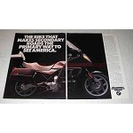 1988 BMW K100LT Motorcycle Ad - Secondary Roads