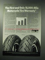 1987 Avon AM20 Front and AM21 Rear Motorcycle Tire Ad