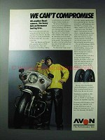 1986 Avon AM20 Front and AM21 Rear Motorcycle Tires Ad