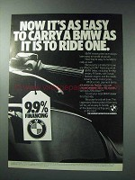 1986 BMW Motorcycles Ad - It's As Easy To Carry As Ride