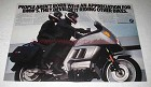 1986 BMW K100RT Motorcycle Ad - Develop It Riding