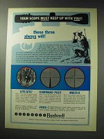 1971 Bushnell Scope Ad - Lite-Site, Command Post