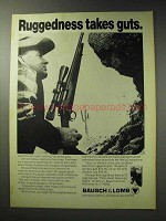 1971 Bausch & Lomb Scopes Ad - Ruggedness Takes Guts