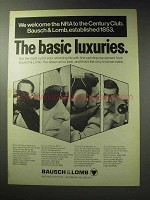 1971 Bausch & Lomb Optics Ad - Basic Luxuries