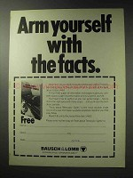 1971 Bausch & Lomb Telescopic Sights Ad - Arm Yourself