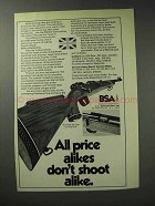 1971 BSA De-luxe Hunting Rifle Ad - Don't Shoot Alike