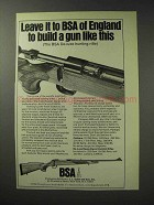 1971 BSA De-luxe Hunting Rifle Ad - Leave it To England