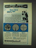 1971 Bushnell Scope Ad - Lite-Site Command Post Multi-X