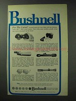 1971 Bushnell Optics Ad - For the Latest
