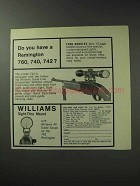 1971 Williams Gun Sight Ad - Remington 760 740 742