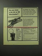 1971 Williams Gun Sight Ad - 94 64 or 55 Winchester