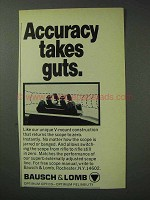 1971 Bausch & Lomb Scopes Ad - Accuracy Takes Guts