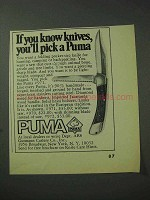 1971 Puma #971 Folding Pocket Knife Ad - You'll Pick