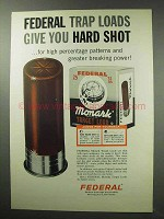 1963 Federal Monark Target Loads Shotgun Shells Ad