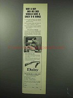 1963 Daisy BB Range Ad - Why a Boy and His Dad