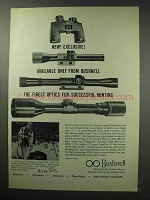 1963 Bushnell Scopes and Binoculars Ad