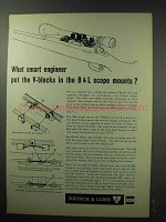 1963 Bausch & Lomb Scopes Ad - Smart Engineer