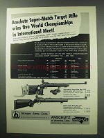 1963 Anschutz Rifle Ad - Super-Match 1413; Match 1411