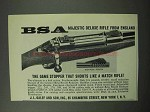 1963 BSA Majestic Deluxe Rifle Ad - Game Stopper