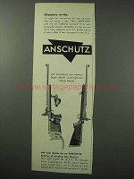 1962 Anschutz Super Match and Match Rifles Ad