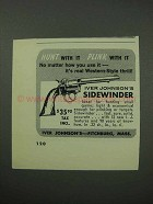 1962 Iver Johnson Sidewinder Revolver Ad - Hunt With It