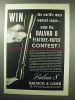 1960 Bausch & Lomb Balvar 8 Scope Ad - Most Wanted