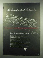 1960 Bausch & Lomb Balvar 8 Scope Ad - Hunt All Game
