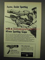 1960 Bausch & Lomb BALscope 60mm Spotting Scope Ad