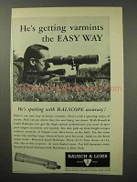 1960 Bausch & Lmb Balscope Spotting Scope Ad - Easy Way