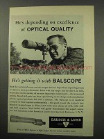 1960 Bausch & Lomb Balscope Spotting Scope Ad - Quality