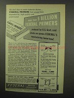 1960 Federal Primers Ad - More Than 5 Billion Produced