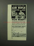 1960 Daisy Air Rifle Ad - 15 Foot Spring-Type