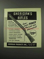 1959 Sheridan Pneumatic Rifles Ad - Have More Power