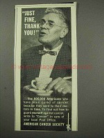 1959 American Cancer Society Ad - Just Fine, Thank You