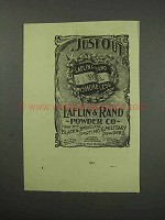 1896 Laflin & Rand W.A. Smokeless Powder Ad