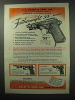 1951 Beretta Featherweight .22, Olympic & 38D Pistol Ad
