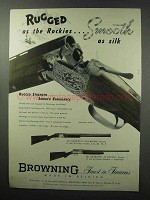 1951 Browning Superposed Grade V Shotgun Ad