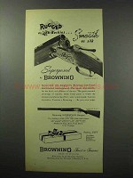 1951 Browning Superposed Grade V Shotgun Ad - Rugged