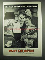 1951 Daisy Air Rifles Ad - His First NRA Target Score