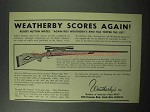1951 Weatherby .300 Magnum Custom Built Rifle Ad