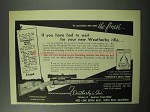 1951 Weatherby De Luxe Rifle Ad - You Had To Wait