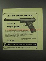 1951 Ruger Mark I Target Pistol Advertisement