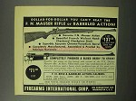 1951 F.I. Ad - F.N. Mauser Rifle and Barreled Action