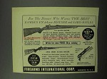 1951 F.I. Ad - F.N. Deluxe Mauser and Sako Mauser Rifle