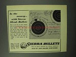 1951 Sierra 30 cal. Bullets Ad - In The Money