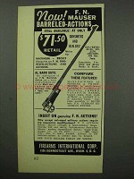 1951 F.I. Ad - F.N. Mauser Barreled-Actions