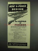 1950 Leupold 4x Pioneer Scope Ad - 4-Power Design