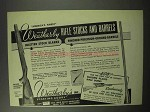 1950 Weatherby Rifle Stocks & Barrels Ad!