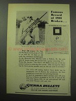 1950 Sierra Bullets Ad - Famous Record of 1901 Broken